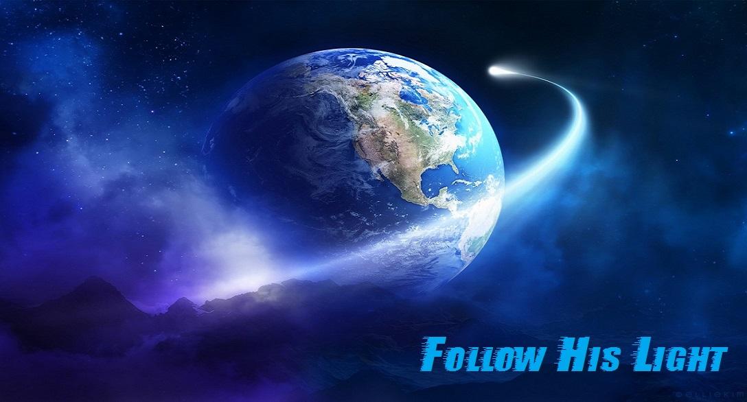 Menu page banner. Follow God's light.